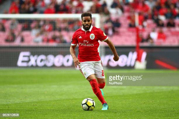SL Benfcas Defender Douglas from Brazil during the Premier League 2017/18 match between SL Benfica vs CD Tondela at Estadio da Luz in Lisbon on April...