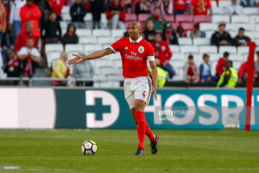 SL Benfcas Defender Luisao from Brazil during the Premier League 2017/18 match between SL Benfica and Moreirense FC, at Estadio da Luz on May 13, 2018 in Lisbon, Portugal.