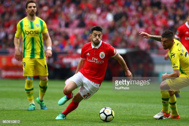 SL Benfcas Forward Pizzi from Portugal during the Premier League 2017/18 match between SL Benfica vs CD Tondela at Estadio da Luz in Lisbon on April...