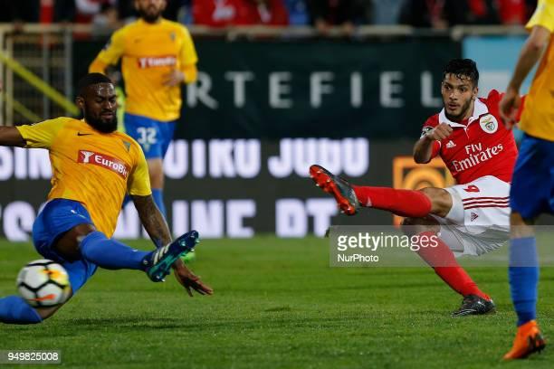 SL Benfcas Forward Raul Jimenez from Mexico during the Premier League 2017/18 match between Estoril Praia v SL Benfica at Estadio Antonio Coimbra da...