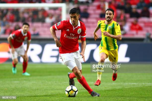 SL Benfcas Forward Raul Jimenez from Mexico during the Premier League 2017/18 match between SL Benfica vs CD Tondela at Estadio da Luz in Lisbon on...