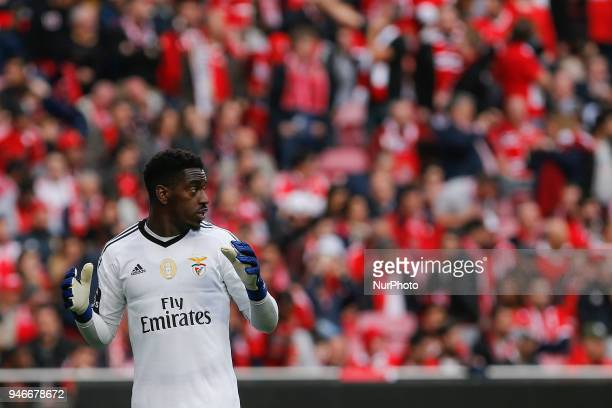 SL Benfcas Goalkeeper Bruno Varela from Portugal during the Premier League 2017/18 match between SL Benfica v FC Porto at Luz Stadium in Lisbon on...