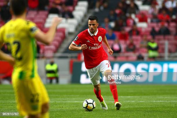 SL Benfcas Midfielder Andreas Samaris from Greece during the Premier League 2017/18 match between SL Benfica vs CD Tondela at Estadio da Luz in...
