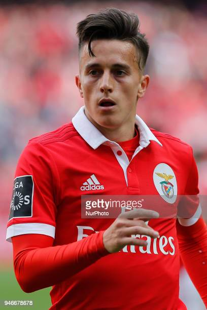 SL Benfcas Midfielder Franco Cervi from Argentina during the Premier League 2017/18 match between SL Benfica v FC Porto at Luz Stadium in Lisbon on...