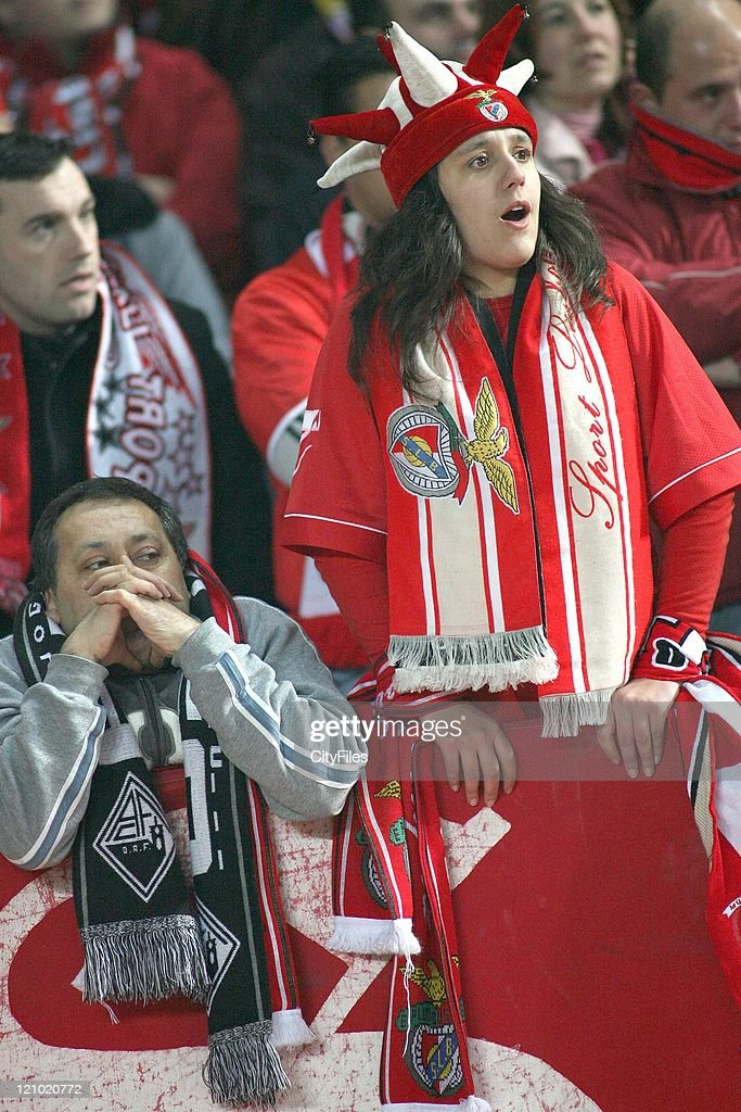 Benfica and Academica supporters during the Portuguese Bwin League match between Academica de Coimbra and Benfica, January 15, 2007.