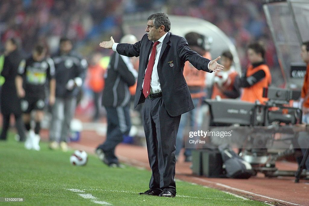 Benfica coach Fernando Santos during the Portuguese Bwin League match between Academica de Coimbra and Benfica, January 15, 2007.