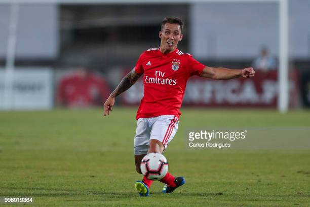Benfica defender Alex Grimaldo from Spain during the match between SL Benfica and Vitoria Setubal FC for the Internacional Tournament of Sadoat...