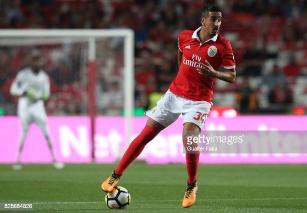 Benfica defender Andre Almeida from Portugal in action during the Primeira Liga match between SL Benfica and SC Braga at Estadio da Luz on August 9...
