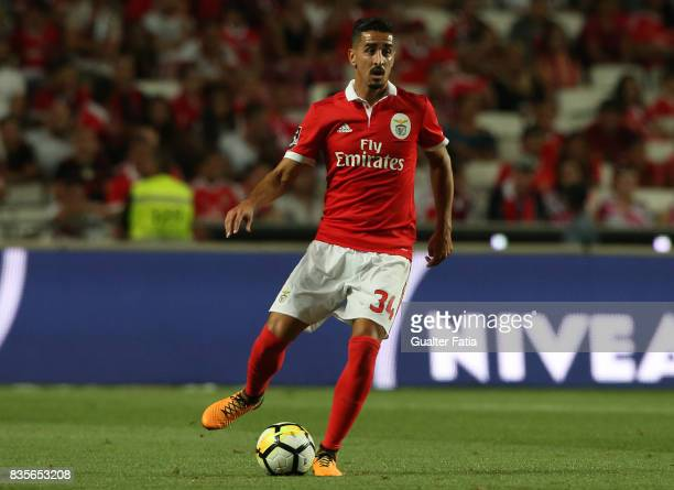 Benfica defender Andre Almeida from Portugal in action during the Primeira Liga match between SL Benfica and CF Os Belenenses at Estadio da Luz on...