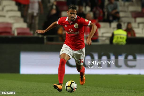 Benfica defender Andre Almeida from Portugal in action during the Portuguese League Cup match between SL Benfica and SC Braga at Estadio da Luz on...