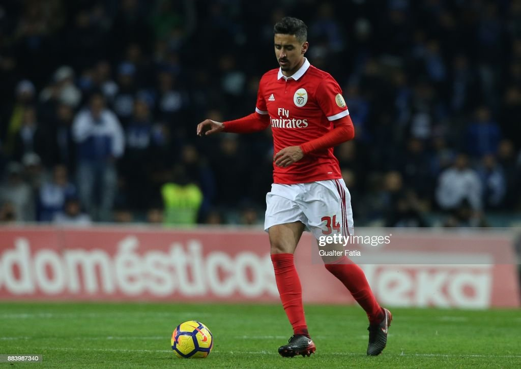 SL Benfica defender Andre Almeida from Portugal in action during the Primeira Liga match between FC Porto and SL Benfica at Estadio do Dragao on December 1, 2017 in Porto, Portugal.