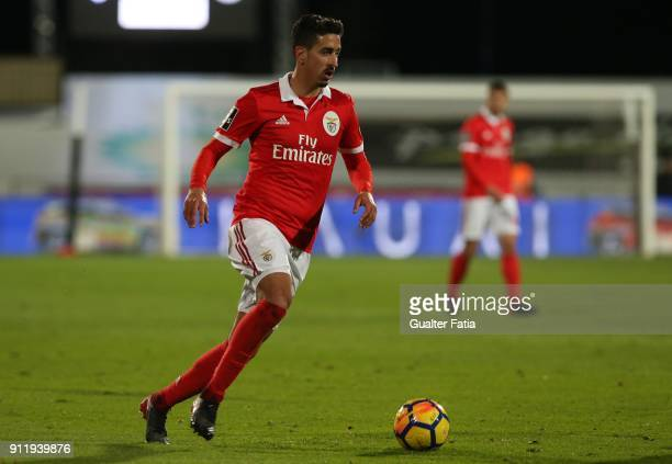 Benfica defender Andre Almeida from Portugal in action during the Primeira Liga match between CF Os Belenenses and SL Benfica at Estadio do Restelo...