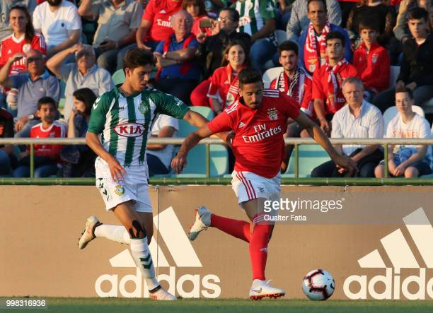 Benfica defender Andre Almeida from Portugal with Vitoria Setubal midfielder Andre Sousa from Portugal in action during the PreSeason Friendly match...