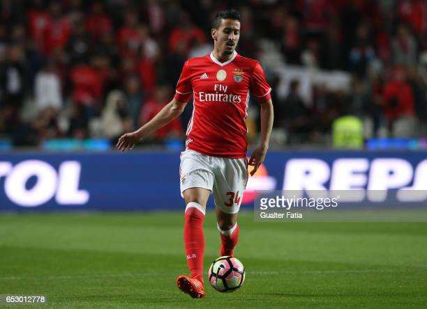 Benfica defender Andre Almeida in action during the Primeira Liga match between SL Benfica and CF Os Belenenses at Estadio da Luz on March 13 2017 in...