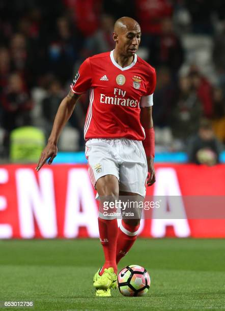 Benfica defender from Brazil Luisao in action during the Primeira Liga match between SL Benfica and CF Os Belenenses at Estadio da Luz on March 13...