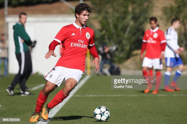 Benfica defender Goncalo Joao Fernandes Loureiro from Portugal in action during the UEFA Youth League match between SL Benfica and FC Basel at Caixa...