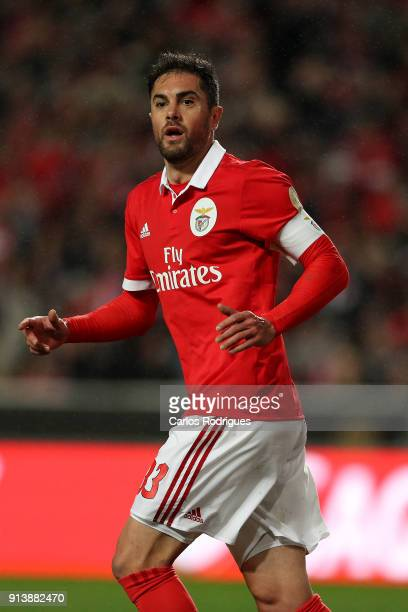 Benfica defender Jardel Vieira from Brasil celebrates scoring Benfica first goal during the match between SL Benfica and Rio Ave FC for the...