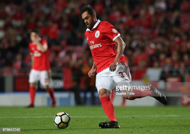 Benfica defender Jardel Vieira from Brazil in action during the Primeira Liga match between SL Benfica and Vitoria Setubal at Estadio da Luz on...