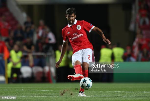 Benfica defender Lisandro Lopez from Argentina in action during the UEFA Champions League match between SL Benfica and CSKA Moskva at Estadio da Luz...