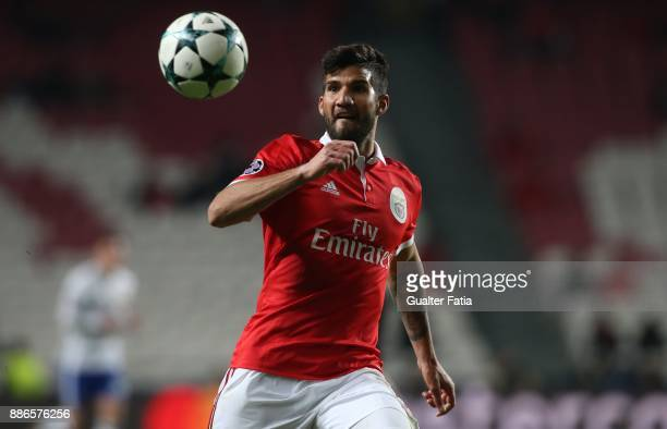 Benfica defender Lisandro Lopez from Argentina in action during the UEFA Champions League match between SL Benfica and FC Basel at Estadio da Luz on...