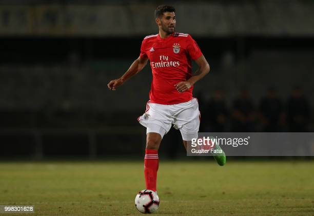 Benfica defender Lisandro Lopez from Argentina in action during the PreSeason Friendly match between SL Benfica and Vitoria Setubal at Estadio do...