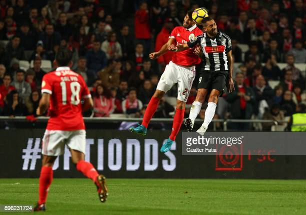 Benfica defender Lisandro Lopez from Argentina with Portimonense SC forward Jorge Pires from Portugal in action during the Portuguese League Cup...