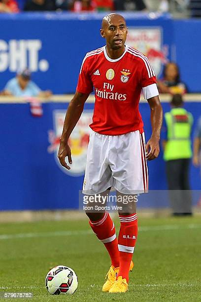 Benfica defender Luisao during the first half of the game between the New York Red Bulls and SL Benfica played at Red Bull Arena in HarrisonNJ
