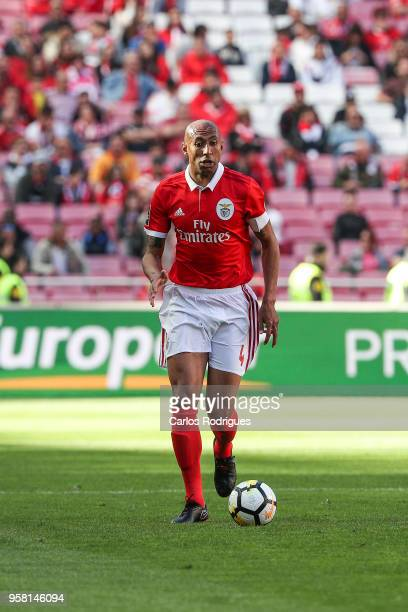 Benfica defender Luisao from Brasil during the Primeira Liga match between SL Benfica and Moreirense FC at Estadio da Luz on May 13 2018 in Lisbon...
