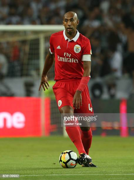 Benfica defender Luisao from Brasil in action during the SuperTaca match between SL Benfica and Vitoria Guimaraes at Estadio Municipal de Aveiro on...