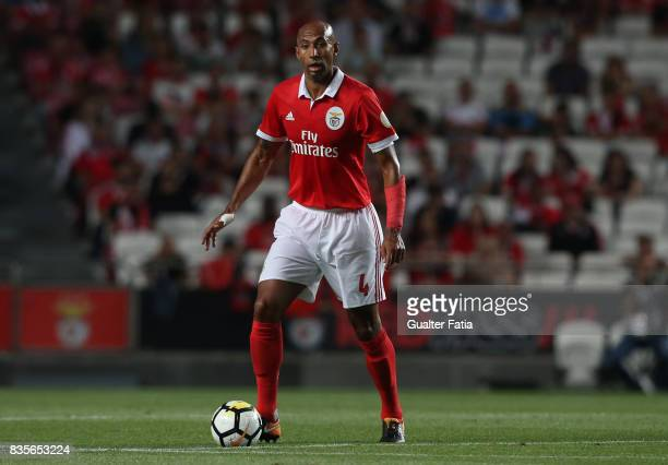 Benfica defender Luisao from Brazil in action during the Primeira Liga match between SL Benfica and CF Os Belenenses at Estadio da Luz on August 19...