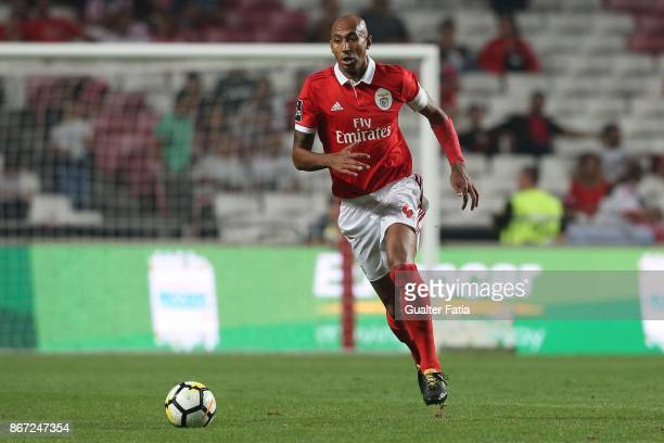 Benfica defender Luisao from Brazil in action during the Primeira Liga match between SL Benfica and CD Feirense at Estadio da Luz on October 27 2017...
