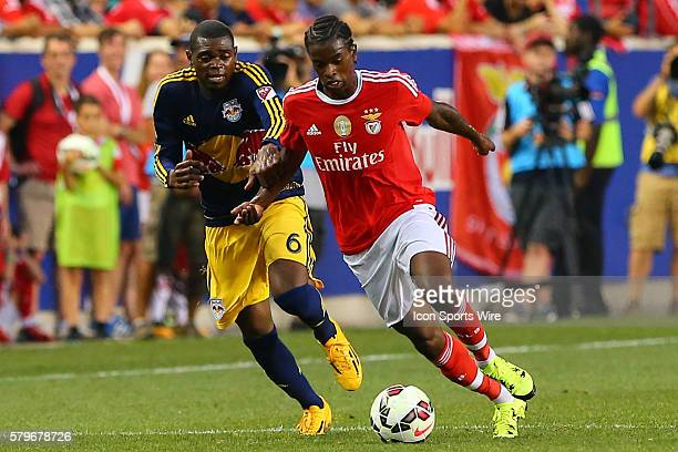 Benfica defender Nelson Semedo during the first half of the game between the New York Red Bulls and SL Benfica played at Red Bull Arena in HarrisonNJ