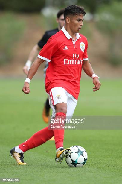 Benfica defender Paolo Medina Etienne from Italy during SL Benfica v Manchester United UEFA Youth League round three match at Caixa Campus on October...