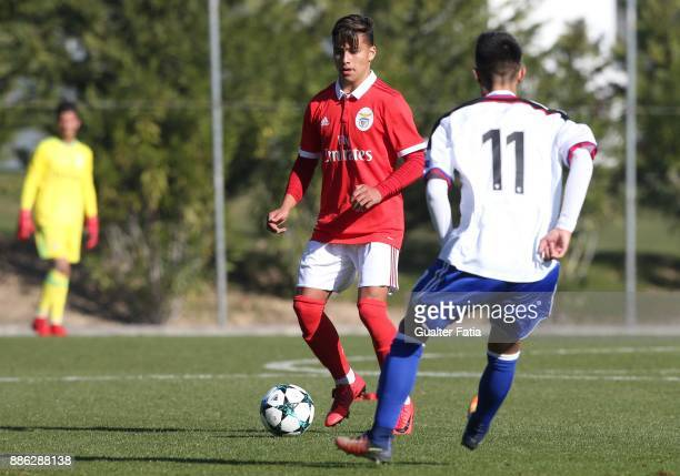 Benfica defender Paolo Medina Etienne from Italy in action during the UEFA Youth League match between SL Benfica and FC Basel at Caixa Futebol Campus...