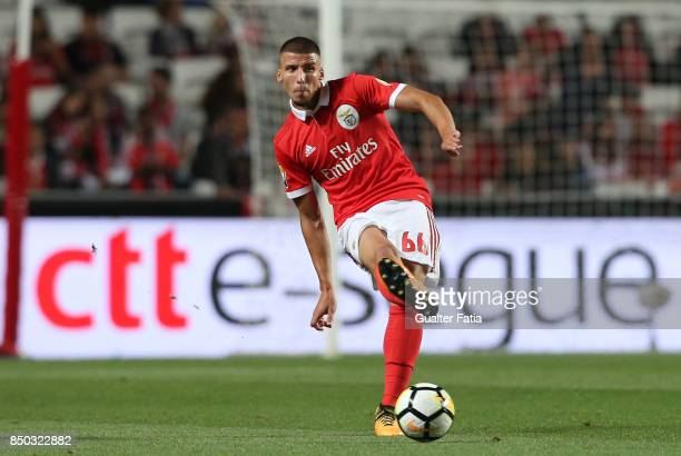 Benfica defender Ruben Dias from Portugal in action during the Portuguese League Cup match between SL Benfica and SC Braga at Estadio da Luz on...