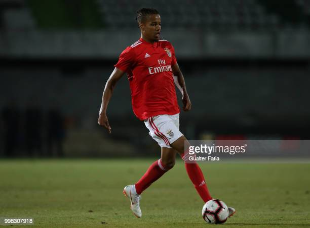 Benfica defender Tyronne Ebuehi from Nigeria in action during the PreSeason Friendly match between SL Benfica and Vitoria Setubal at Estadio do...