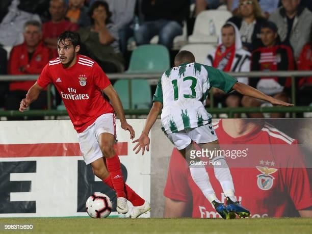 Benfica defender Yuri Ribeiro from Portugal in action during the PreSeason Friendly match between SL Benfica and Vitoria Setubal at Estadio do Bonfim...