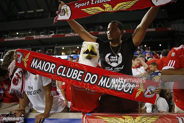 A Benfica fan attends a match against against Red Bulls during the International Champions Cup football match between SL Benfica and Red Bulls at the...