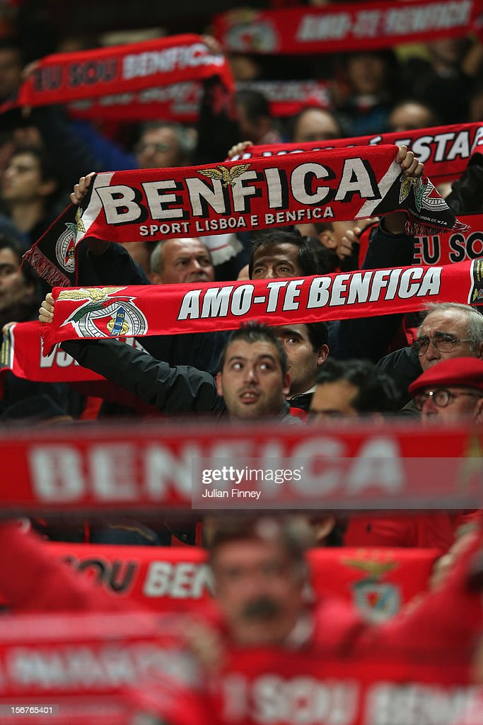 Benfica fans show their support before the UEFA Champions League, Group G match between SL Benfica and Celtic FC at Estadio da Luz on November 20, 2012 in Lisbon, Portugal.