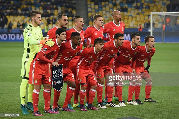 Benfica football team poses for a group picture prior to the UEFA Champions League Group B match between Dynamo Kyiv and SL Benfica at NSC...