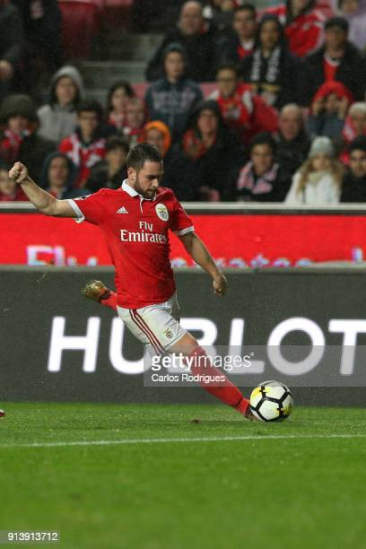 Benfica forward Andrija Zivkovic from Serbia during the match between SL Benfica and Rio Ave FC for the Portuguese Primeira Liga at Estadio da Luz on...