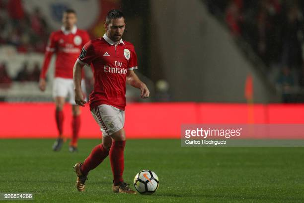Benfica forward Andrija Zivkovic from Serbia during the Portuguese Primeira Liga match between SL Benfica and CS Maritime at Estadio da Luz on March...