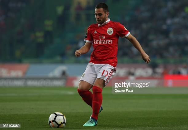 Benfica forward Andrija Zivkovic from Serbia in action during the Primeira Liga match between Sporting CP and SL Benfica at Estadio Jose Alvalade on...