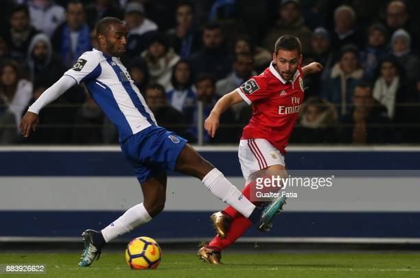 Benfica forward Andrija Zivkovic from Serbia with FC Porto defender Ricardo Pereira from Portugal in action during the Primeira Liga match between FC...