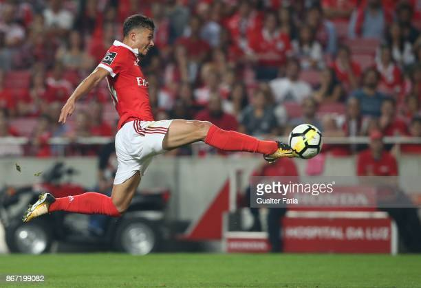 Benfica forward Diogo Goncalves from Portugal in action during the Primeira Liga match between SL Benfica and CD Feirense at Estadio da Luz on...