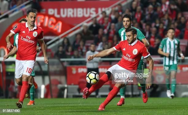 Benfica forward Eduardo Salvio from Argentina in action during the Primeira Liga match between SL Benfica and Rio Ave FC at Estadio da Luz on...