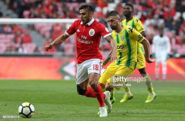 Benfica forward Eduardo Salvio from Argentina in action during the Primeira Liga match between SL Benfica and CD Tondela at Estadio da Luz on April...