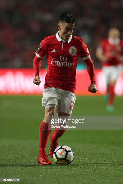Benfica forward Franco Cervi from Argentina during the match between SL Benfica and Rio Ave FC for the Portuguese Primeira Liga at Estadio da Luz on...