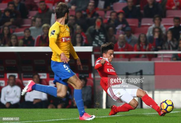 Benfica forward Franco Cervi from Argentina in action during the Primeira Liga match between SL Benfica and GD Estoril Praia at Estadio da Luz on...