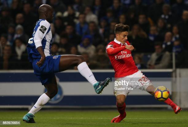 Benfica forward Franco Cervi from Argentina with FC Porto midfielder Danilo Pereira from Portugal in action during the Primeira Liga match between FC...